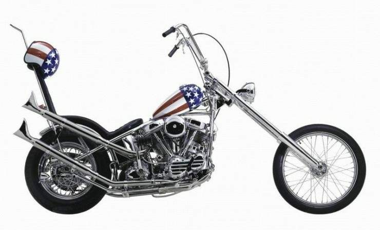 Мотоцикл Harley Davidson Easy Rider Captain America Chopper 1969