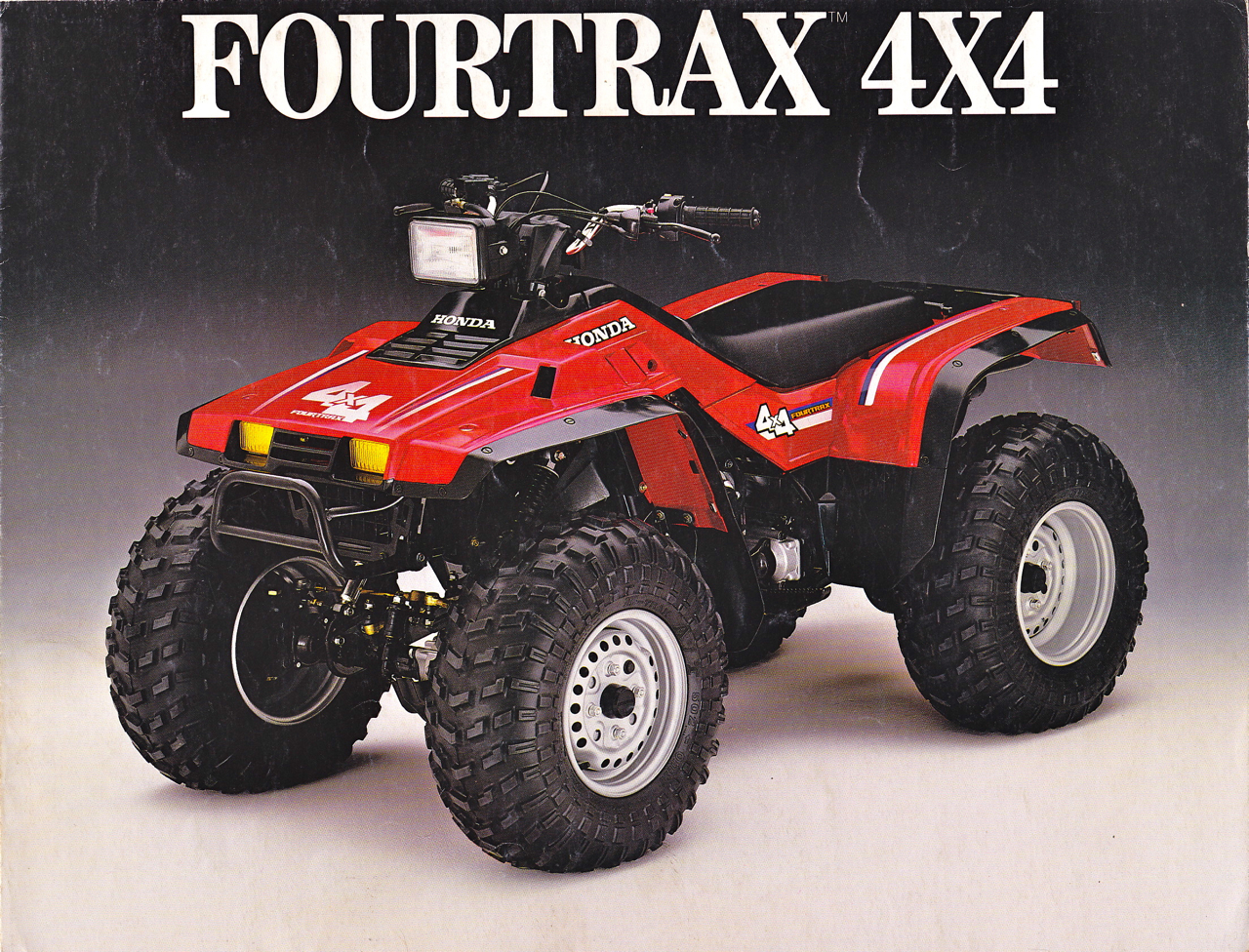 Мотоцикл Honda TRX 350 FOURTRAX 4x4 1986