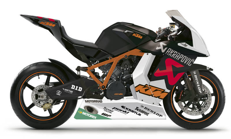 Мотоцикл KTM RC8R 1190 Akrapovic Replica IDM 2010