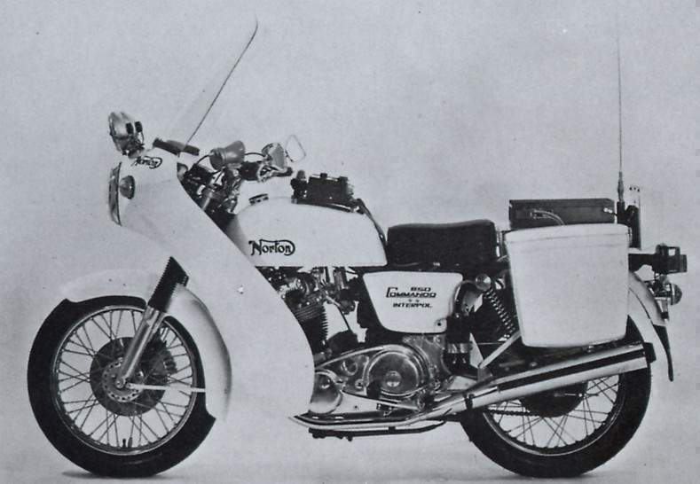 Мотоцикл Norton Commando Interpol 1 1974